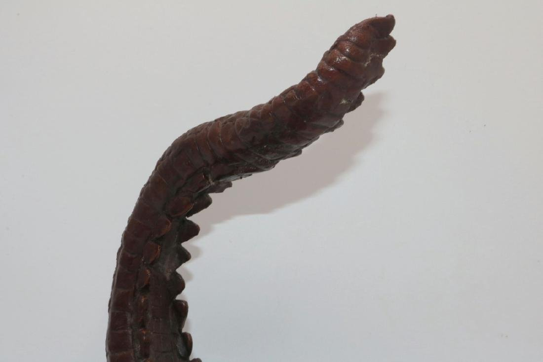 Maitland Smith Finely Detailed Bronze Alligator - 3