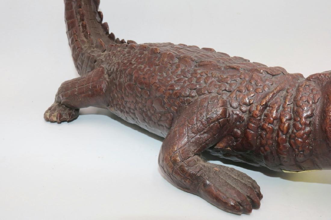 Maitland Smith Finely Detailed Bronze Alligator - 4