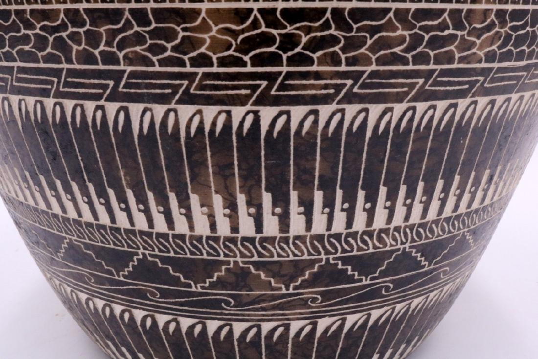 Myron Charley Navajo Etched Native American Vase - 2