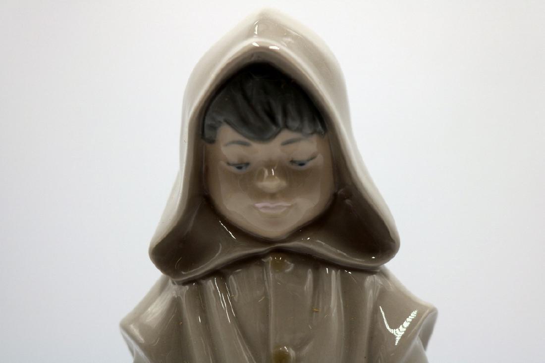 "Nao by Lladro ""Boy in Rain Coat & Dog"" #354 Porcelain - 3"