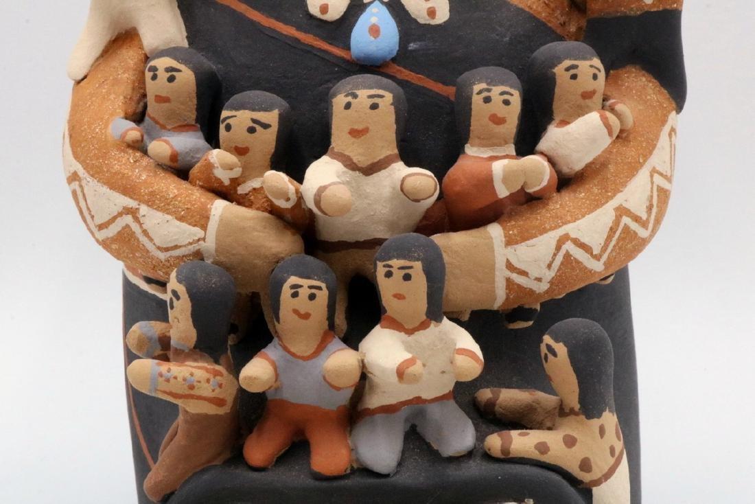 Two CLS Jemez/Pueblo Native American Sculptures - 3