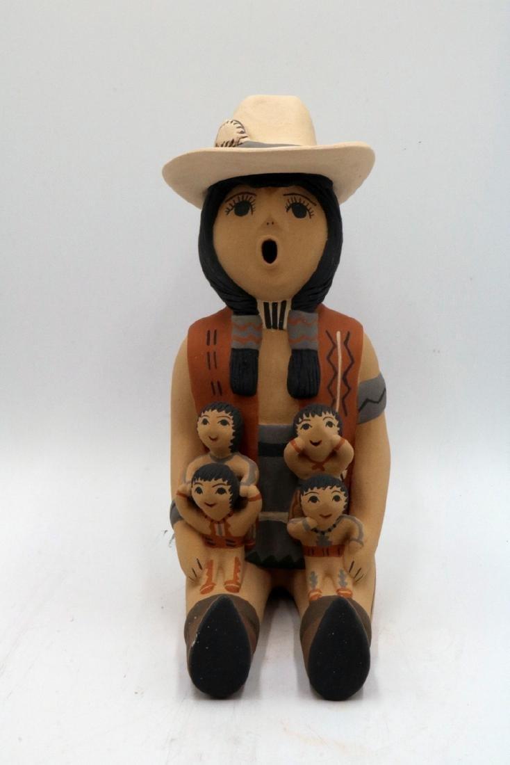 Two CLS Jemez/Pueblo Native American Sculptures - 5