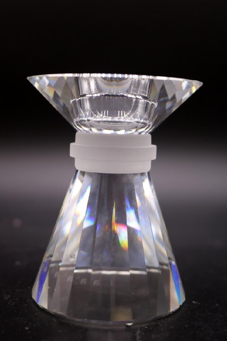 Swarovski Crystal Graduating Candle Holders - 3
