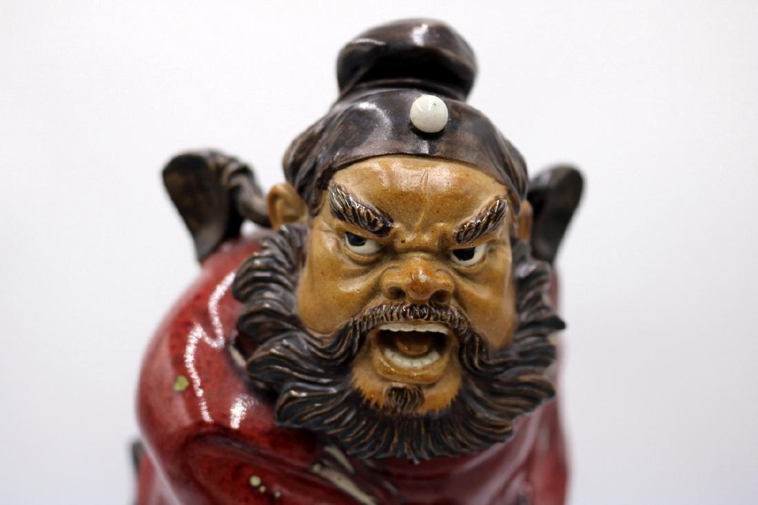Japanese Hand Glazed Pottery Samurai - 2