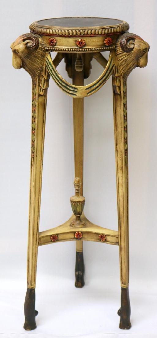 Contemporary Ram's Head Pedestal
