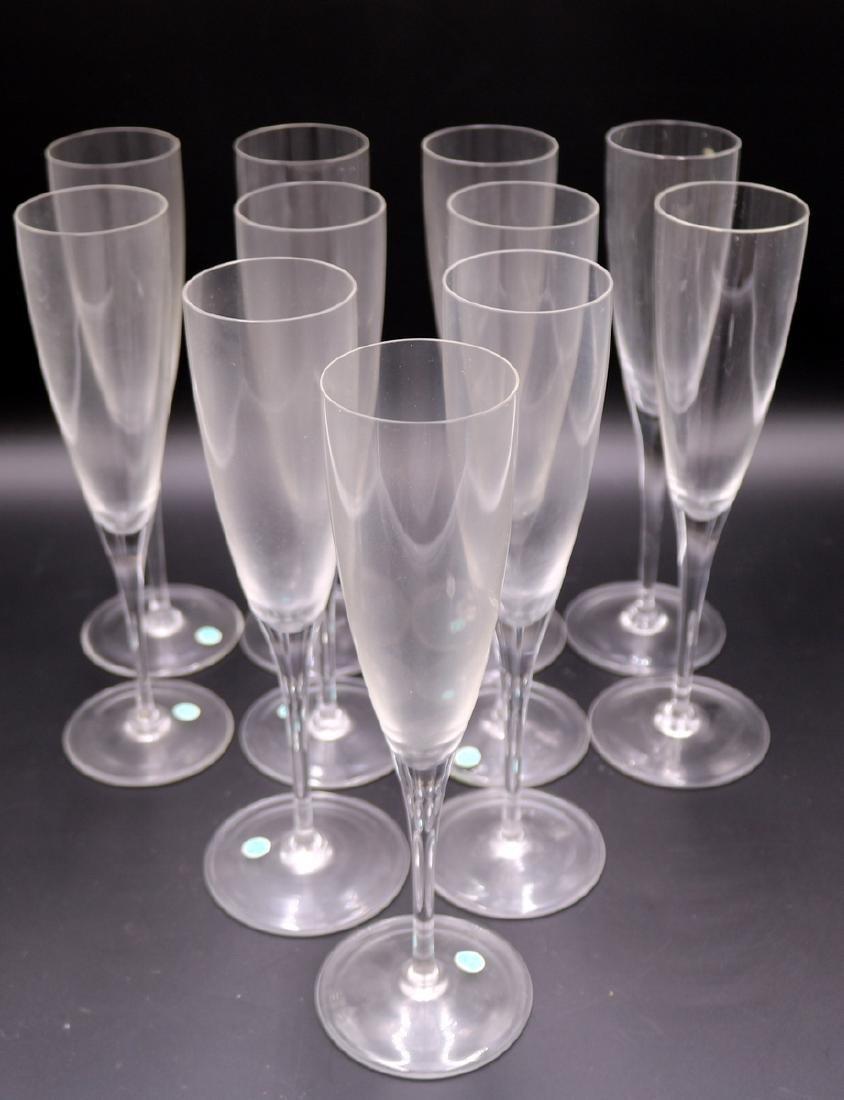11 Pc. Tiffany & Co. Glass Champagne Flutes