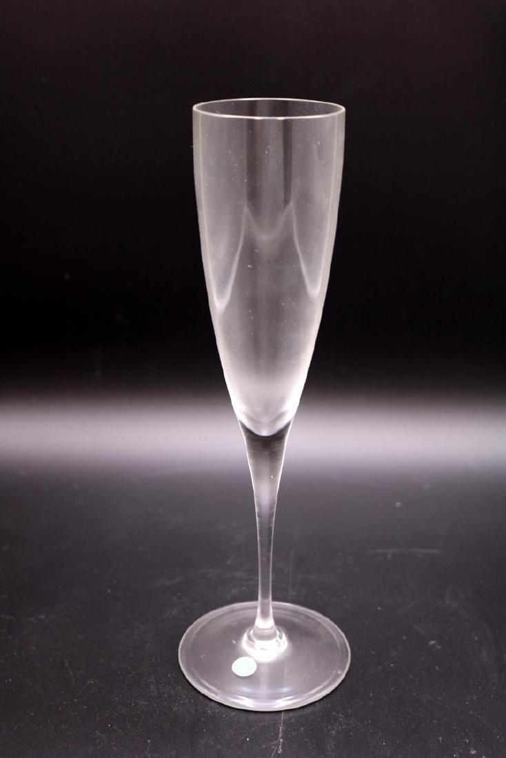 11 Pc. Tiffany & Co. Glass Champagne Flutes - 2