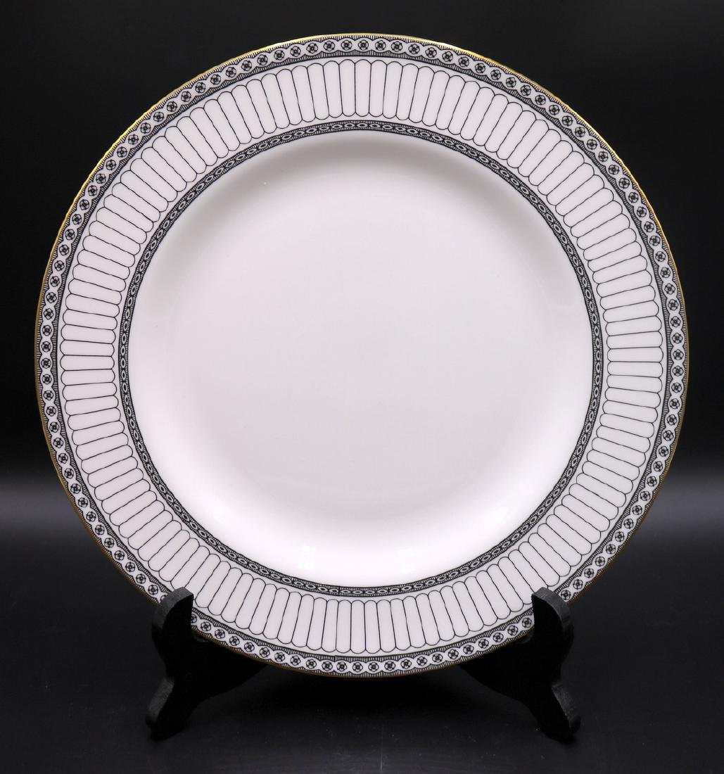 "62 Pc. Wedgwood ""Colonnade Black"" Bone China Set"