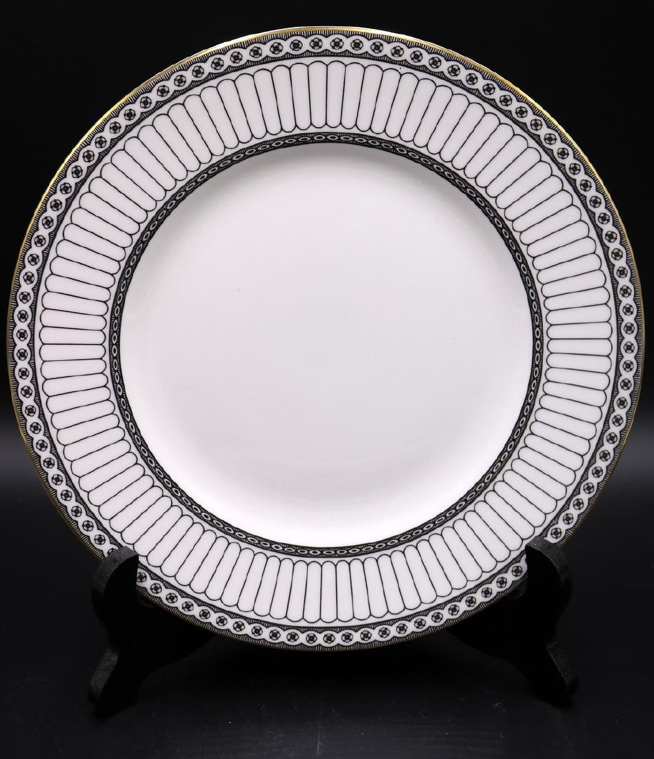 "62 Pc. Wedgwood ""Colonnade Black"" Bone China Set - 2"