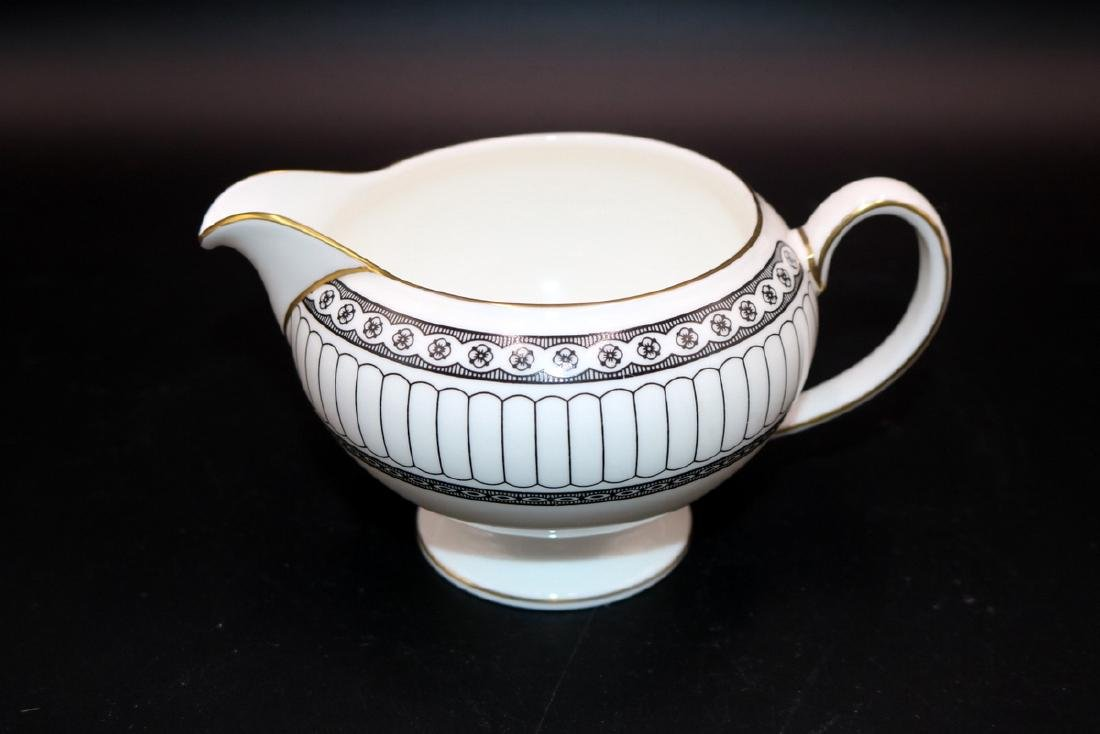 "62 Pc. Wedgwood ""Colonnade Black"" Bone China Set - 6"