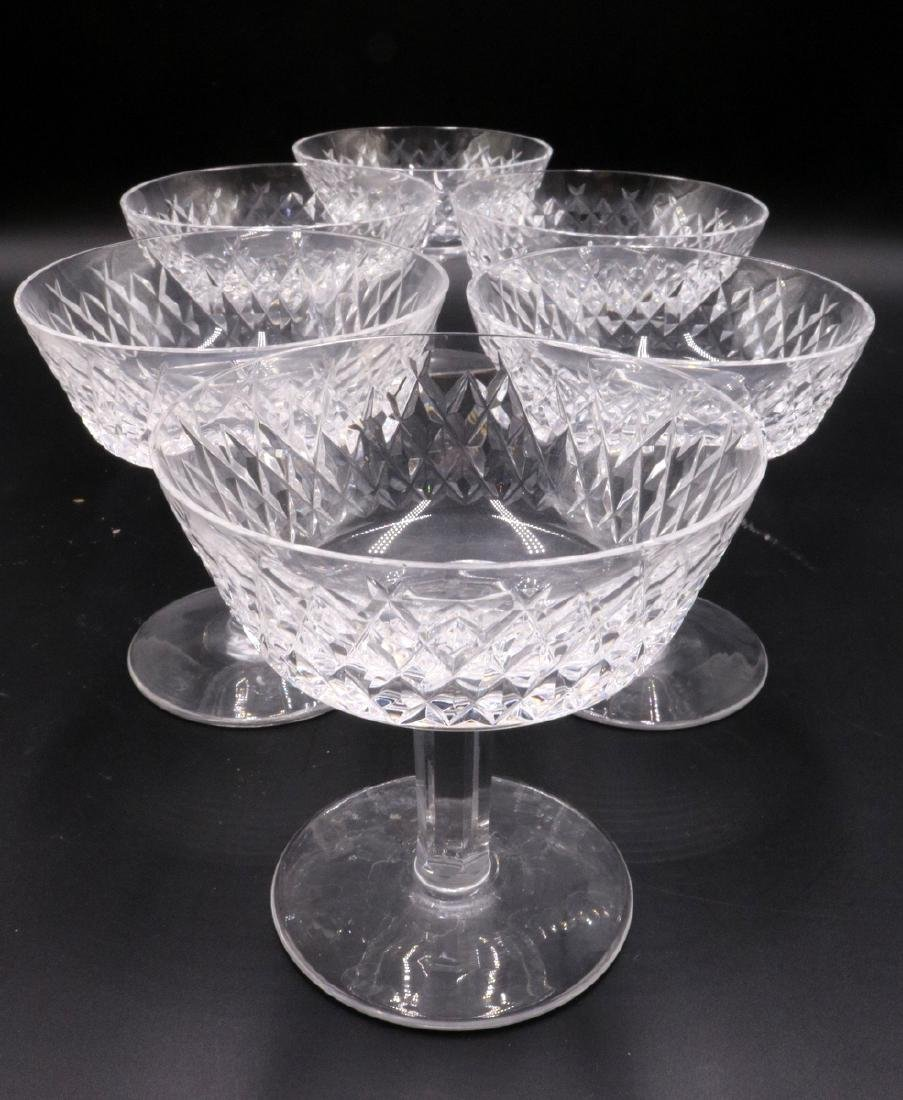 """6 Pc. Waterford """"Alana"""" Crystal Champagne Glasses"""