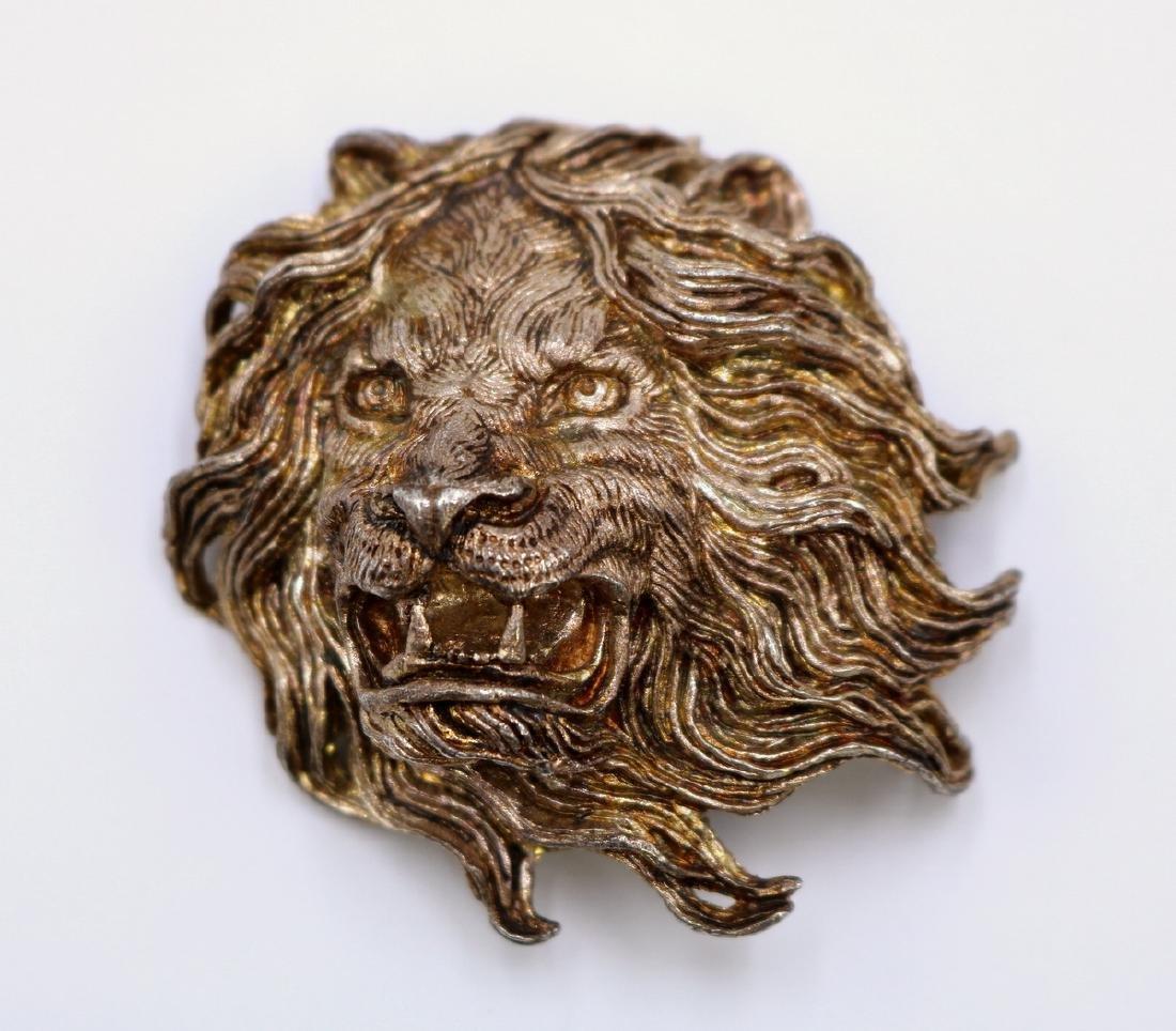 Solid Sterling Fierce Lion Pendant