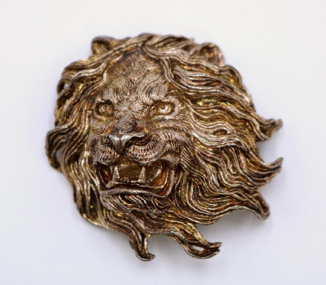 Solid Sterling Fierce Lion Pendant