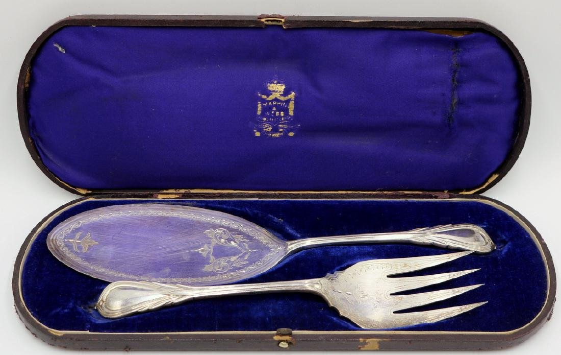 Antique Mappin & Webb Silver Plated Fish Set