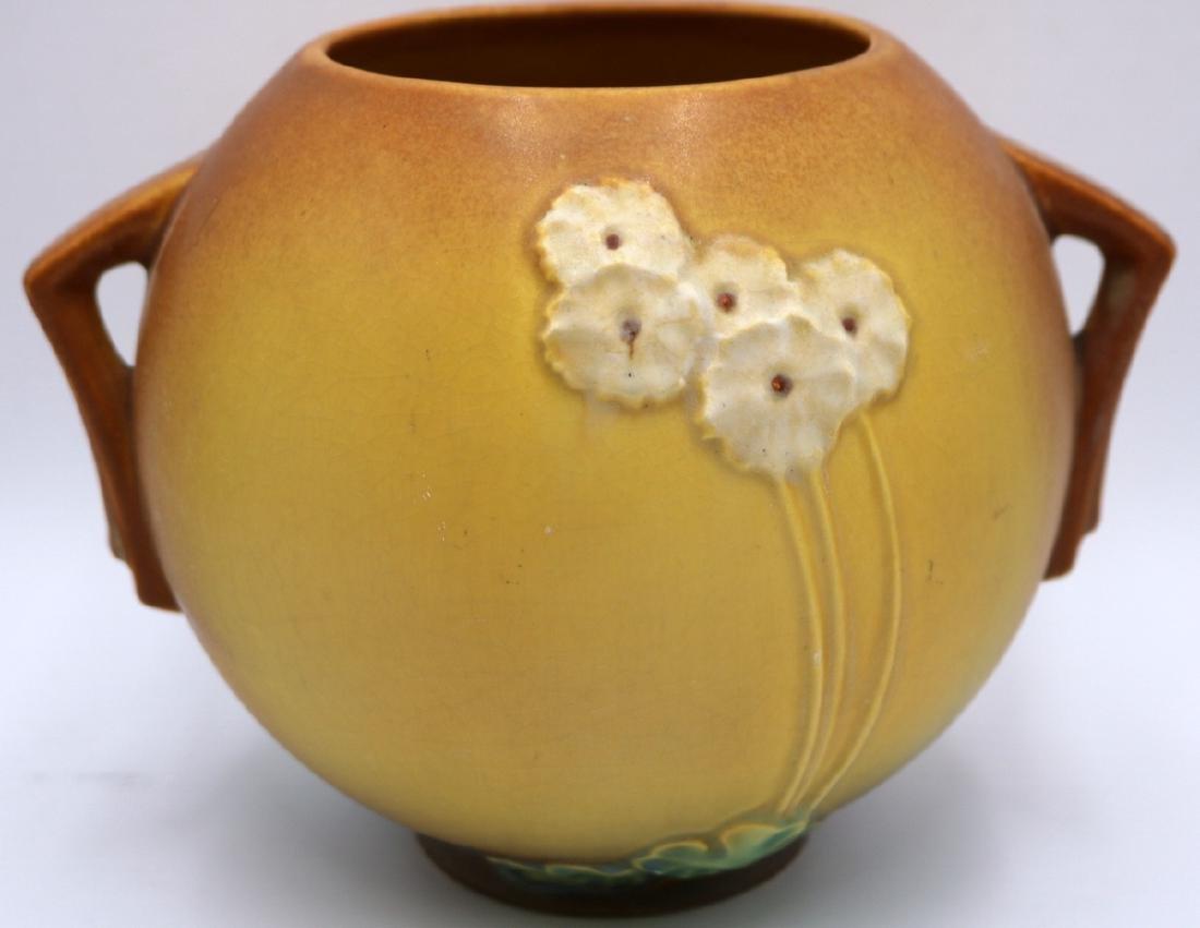 "Roseville ""Primrose"" Handled Pottery Bowl"