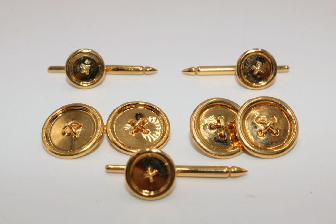 Vintage Tiffany & Co. Vermeil Sterling Stud Set