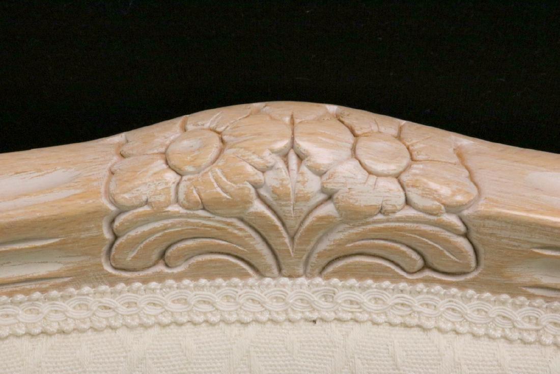 Pair of Beautiful White Upholstered & Cream Chairs - 3