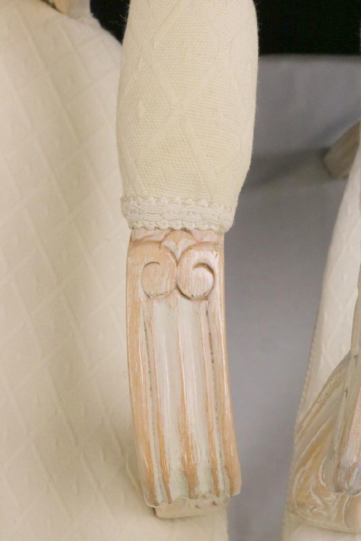 Pair of Beautiful White Upholstered & Cream Chairs - 4