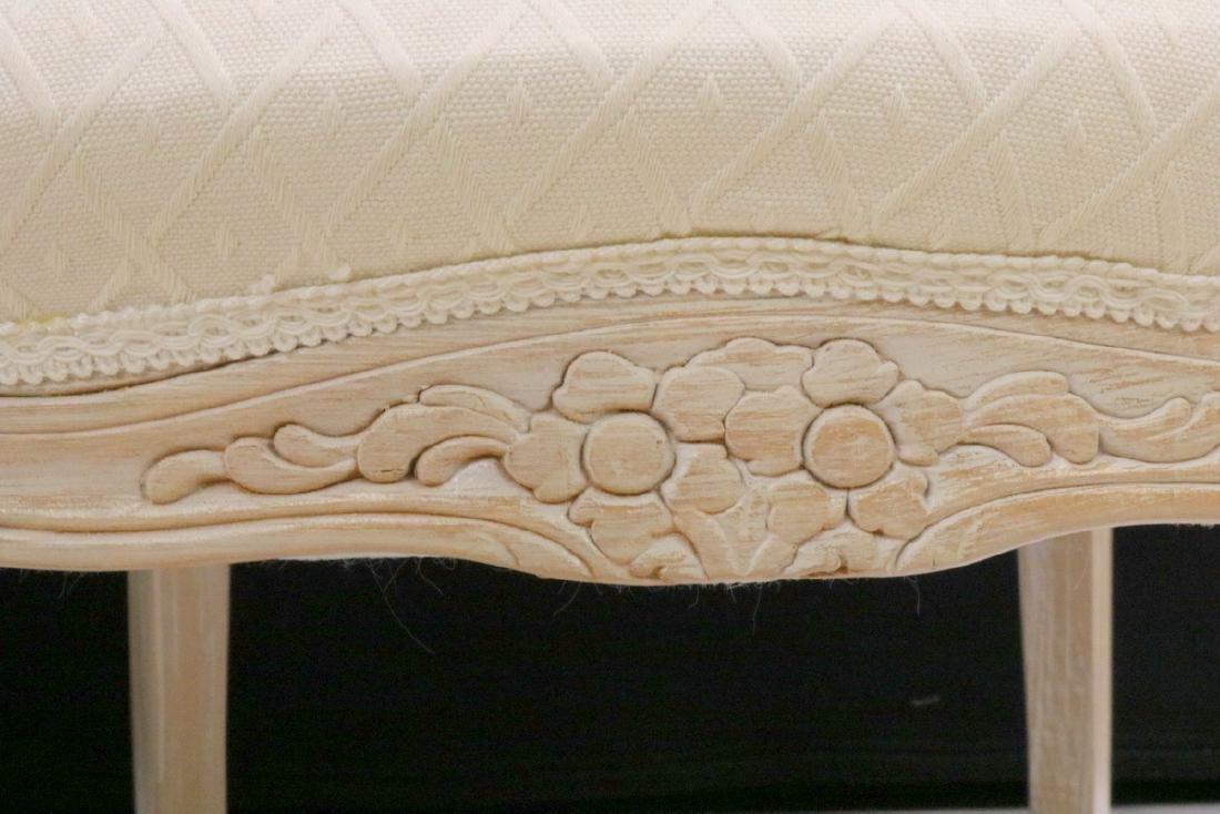 Pair of Beautiful White Upholstered & Cream Chairs - 5