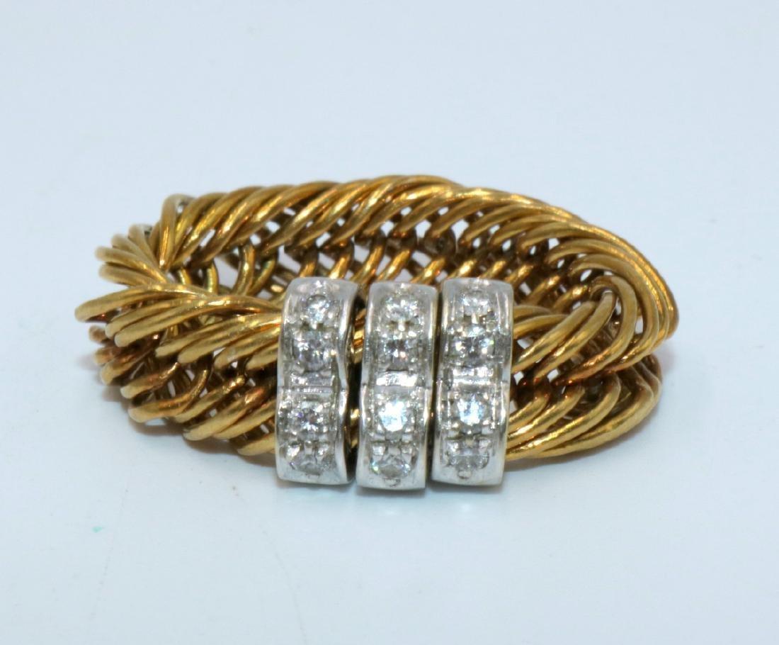 Pomellato 18Kt RG Weave Design Approx. 0.60ct. Diamond