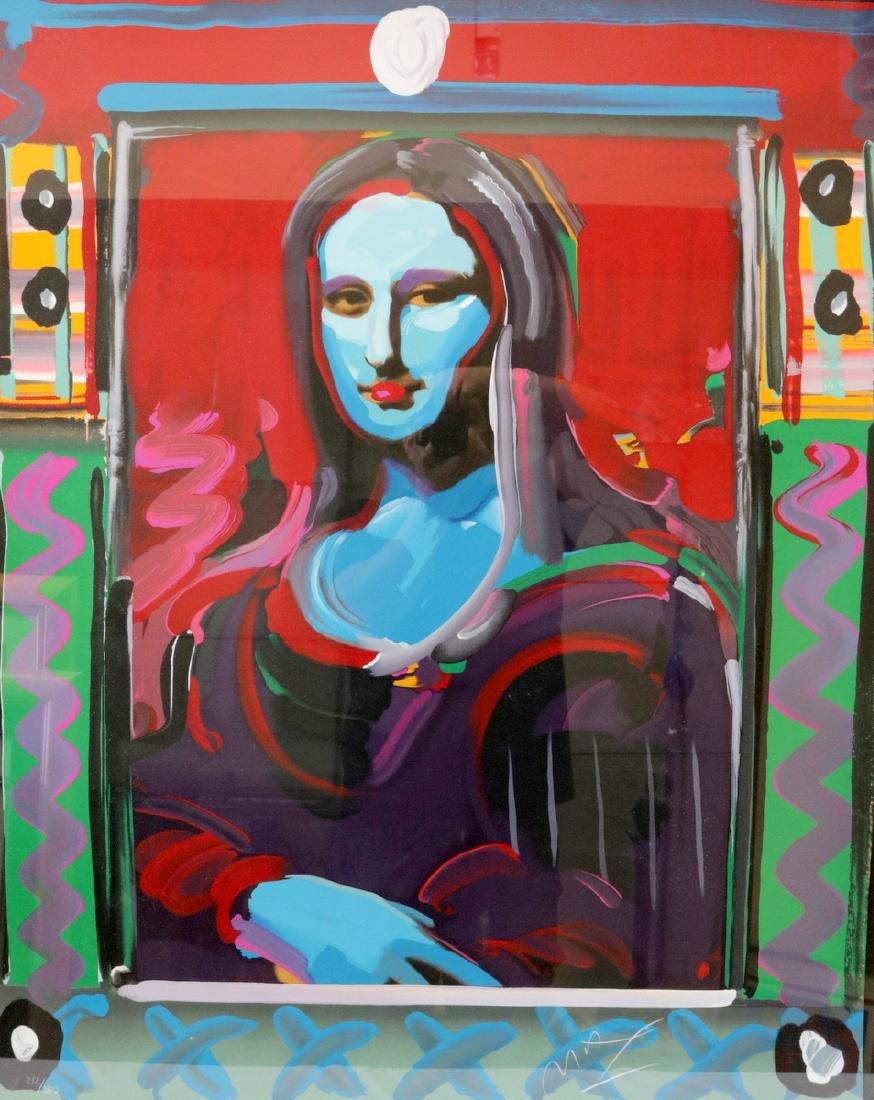 """Peter Max """"Mona Lisa"""" Serigraph"""