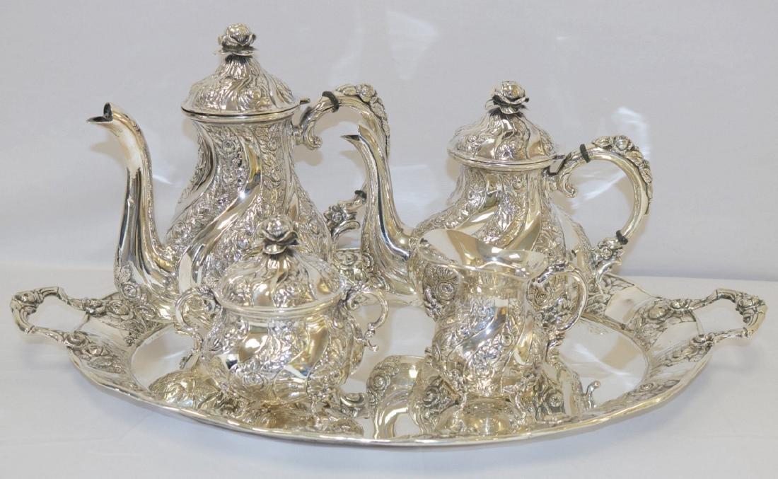 19th Century European Sterling Silver Tea Set