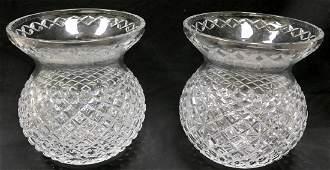Pair of Large Waterford Crystal Vases