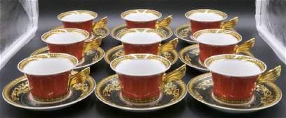 "Rosenthal Versace ""Medusa"" Porcelain Tea Cup & Saucer"