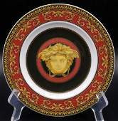 "8 Pc. Rosenthal Versace ""Medusa"" Porcelain Bread &"