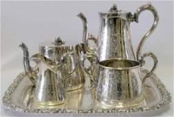 5 Pc. Elkington & Co. Silver Plated Tea Set