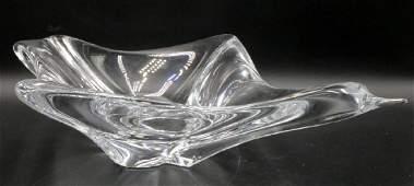 Daum France Crystal Bird Bowl
