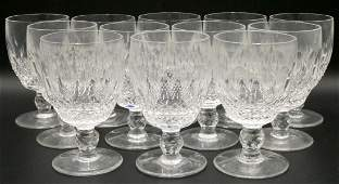 12 Pc Waterford Colleen Crystal Water Goblets