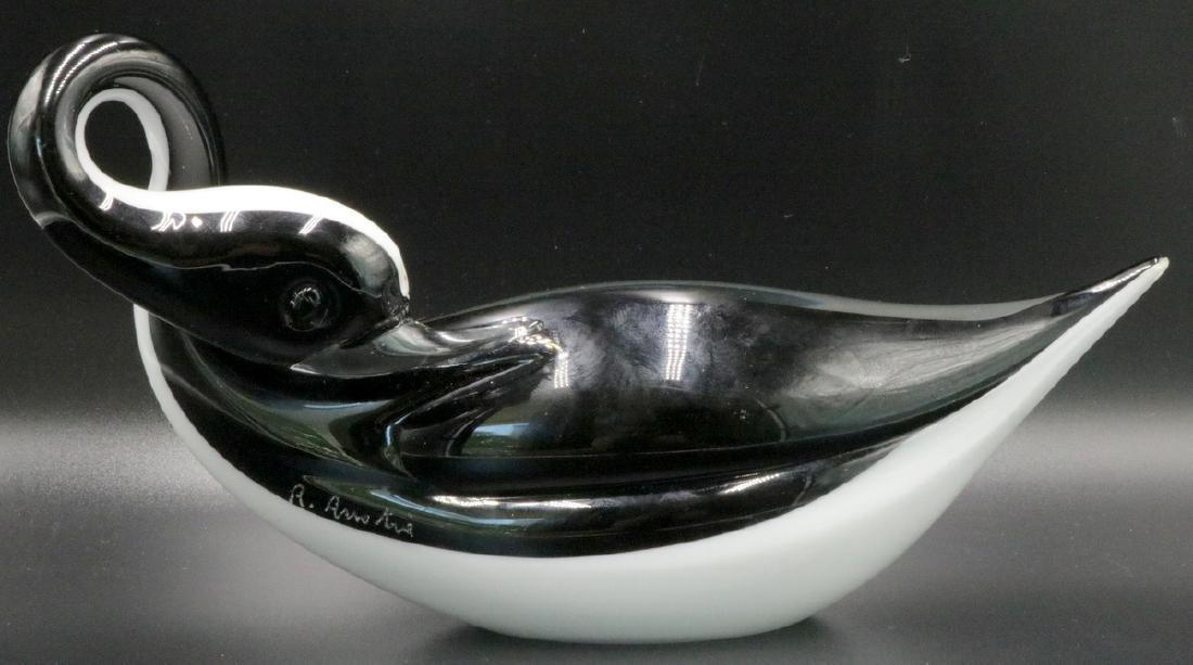 Renato Anatra Murano Art Glass Duck