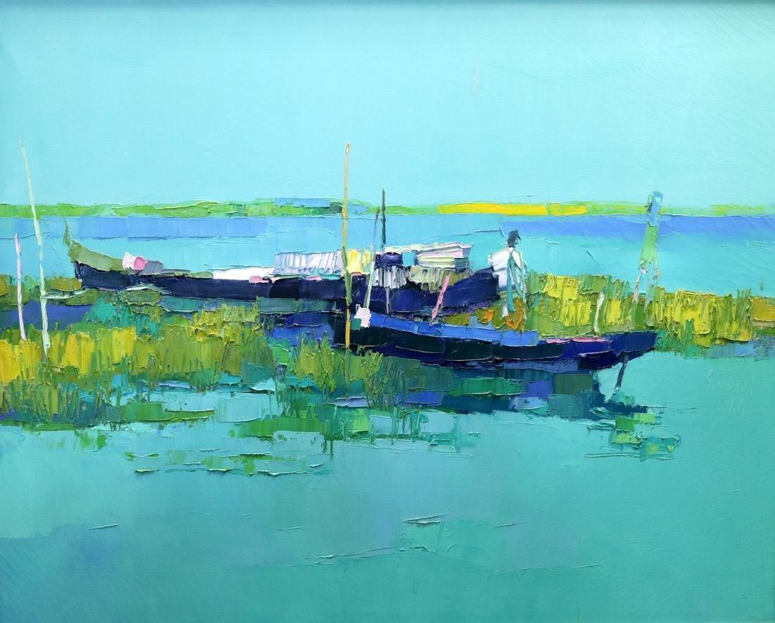 "Nicola Simbari (Italian 1927-2012) ""Laguna"" Oil"