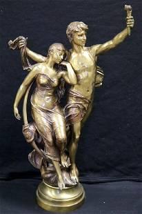 Eugene Marioton (French 1857-1933) Gold Bronze Group