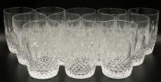12 Pc Waterford Colleen Crystal 12 OZ Flat Tumblers