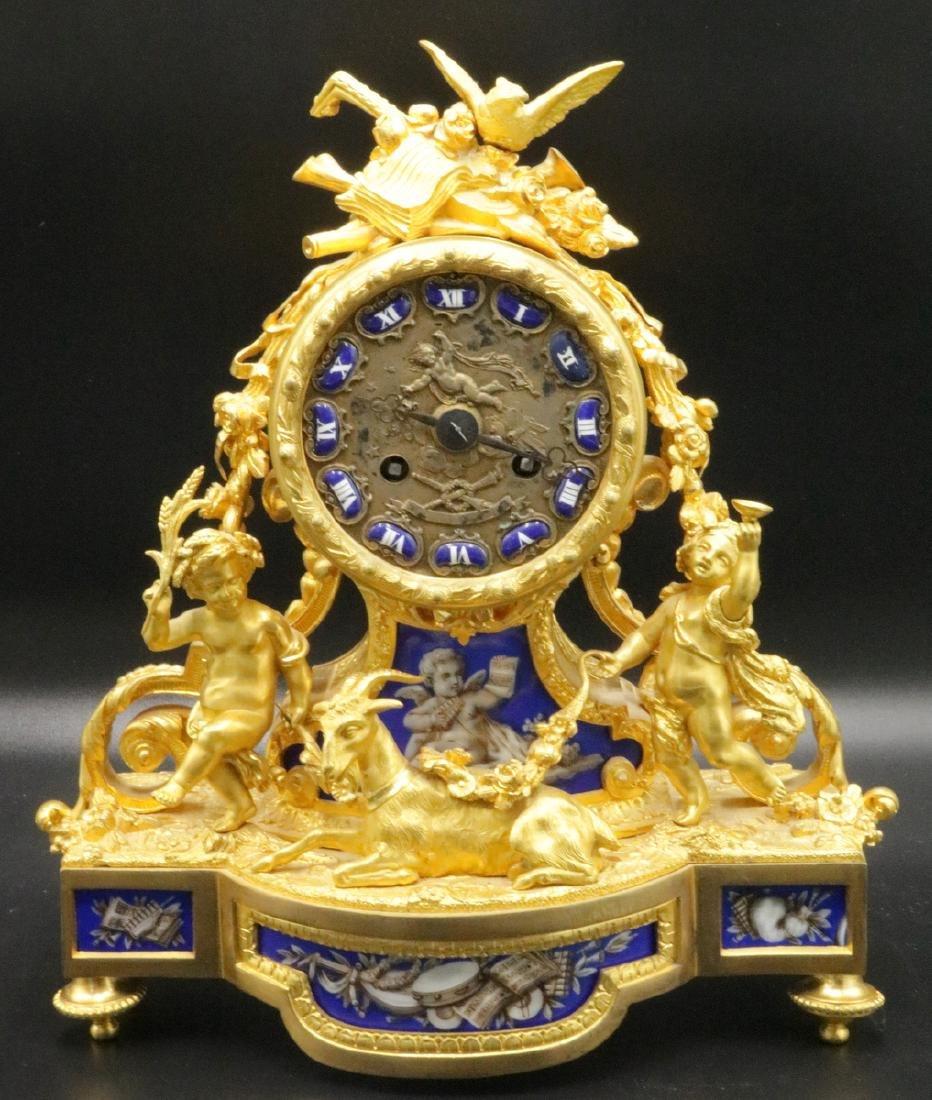 19th C. Alphonse Alph Giroux French Bronze & Porcelain