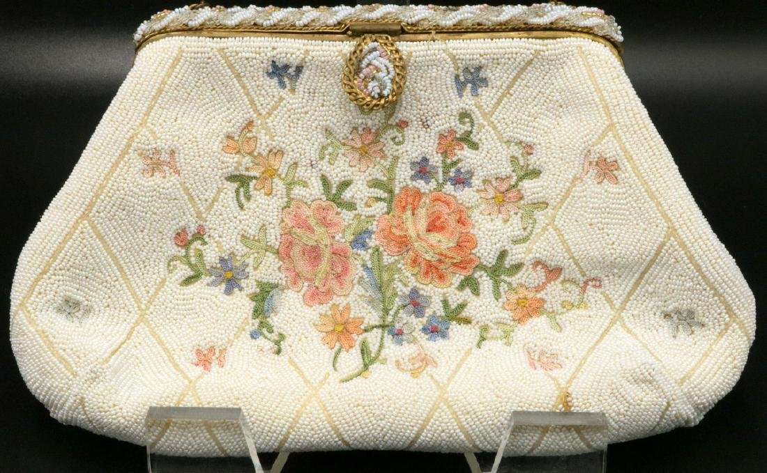 Vintage Jorelle French Micro Beaded Evening Bag