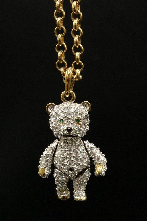 79dfaf2727 Swarovski Crystal Gold Tone Teddy Bear Pendant w/ - Jan 15, 2018 ...