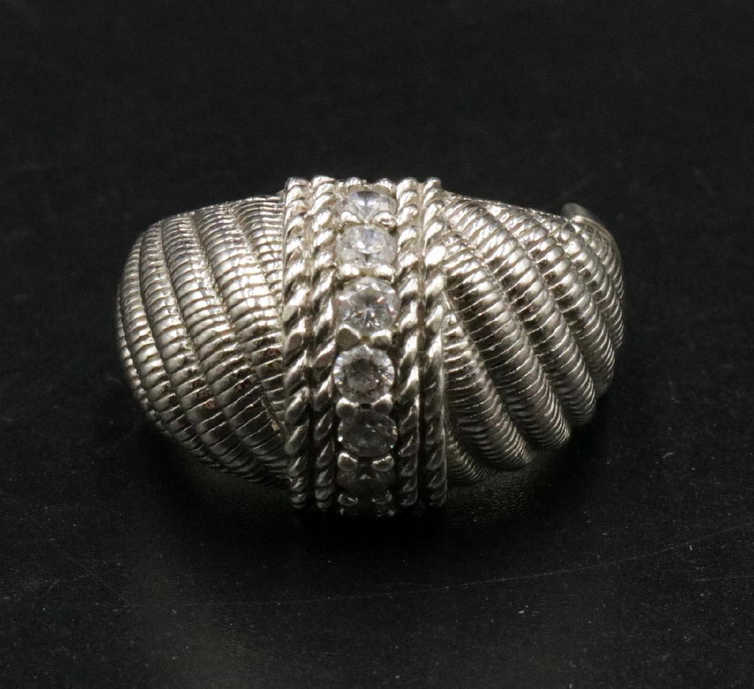 Judith Ripka Sterling CZ Ring