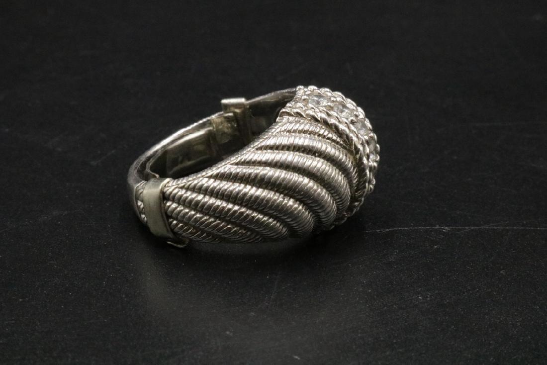 Judith Ripka Sterling CZ Ring - 2