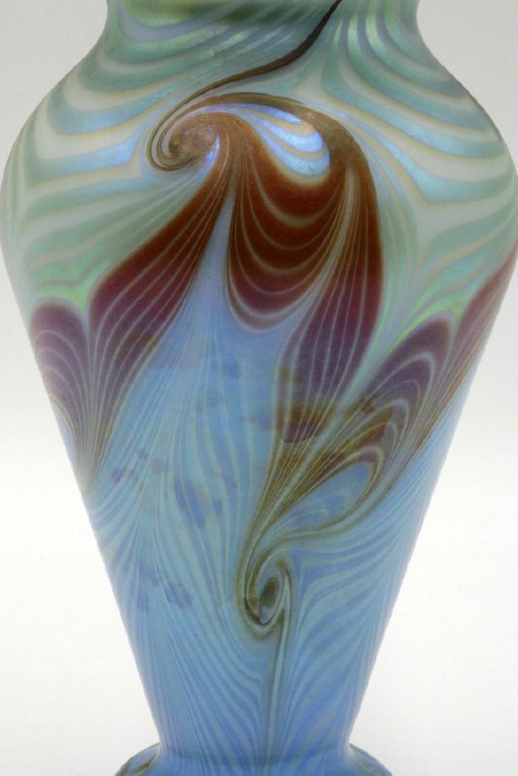 Vandermark Merritt Iridescent Art Glass Vase - 2