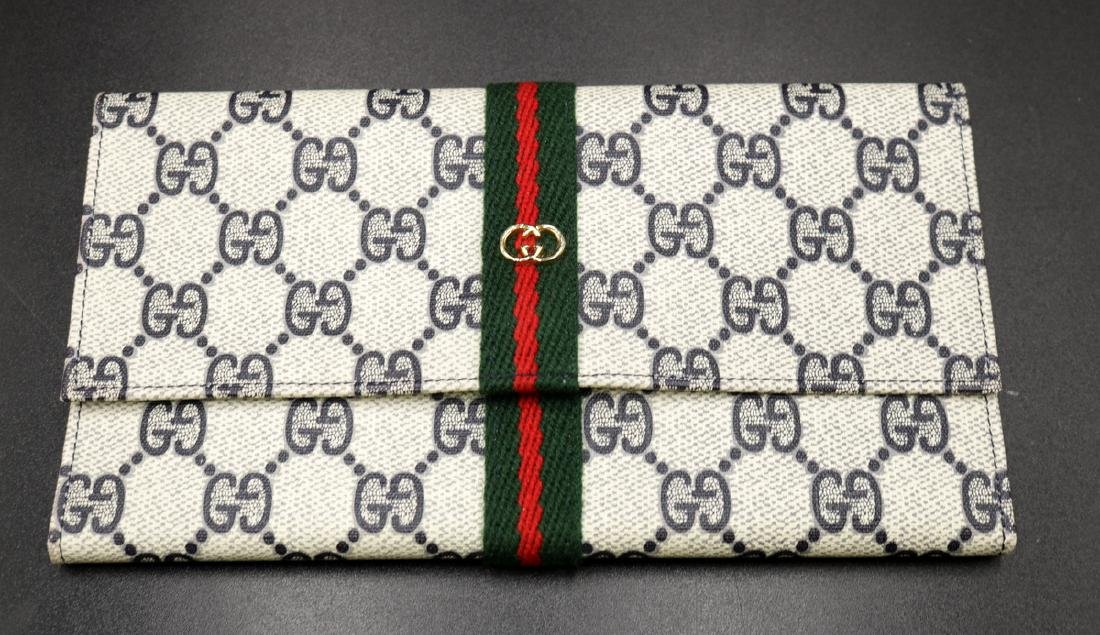 Authentic Gucci Leather Travel Wallet
