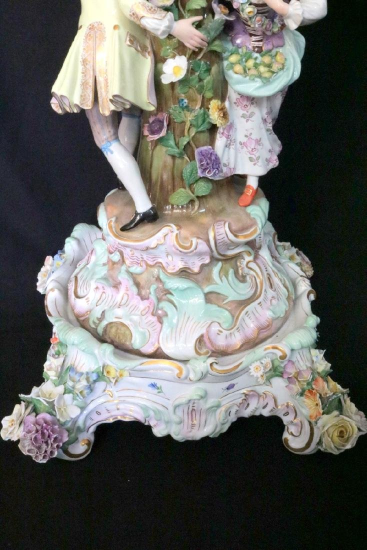 Late 19th C. Meissen Hand Painted Porcelain Compote - 5
