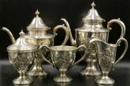 Vintage Frank M Whiting Sterling Tea Set