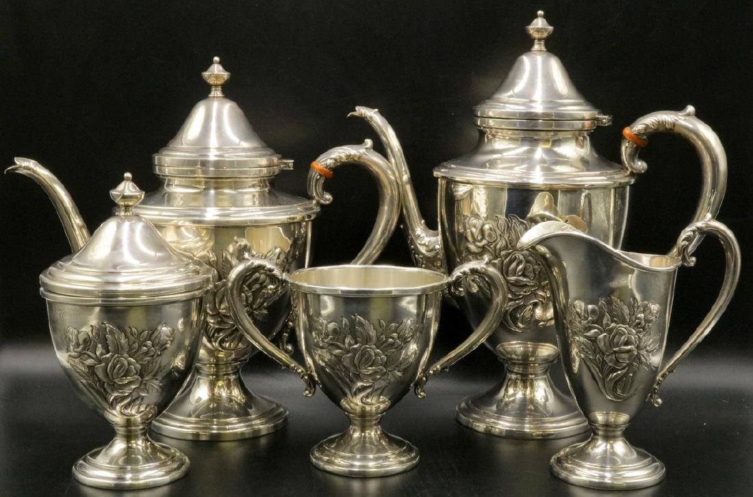 Vintage Frank M. Whiting Sterling Tea Set