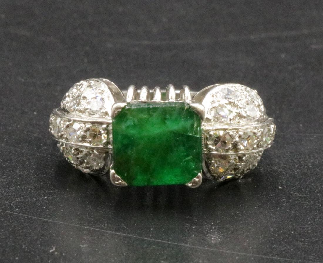 Platinum 2.80ct. Emerald & Diamond Ring