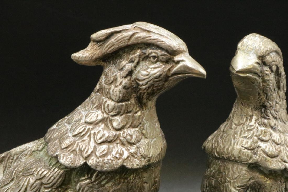 19th C. European Solid Sterling Pheasants - 6