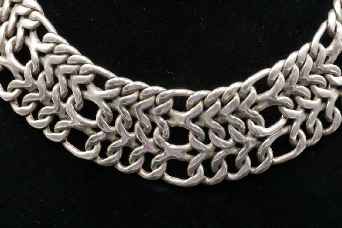 Heavy Figaro Sterling Silver Collar - 2