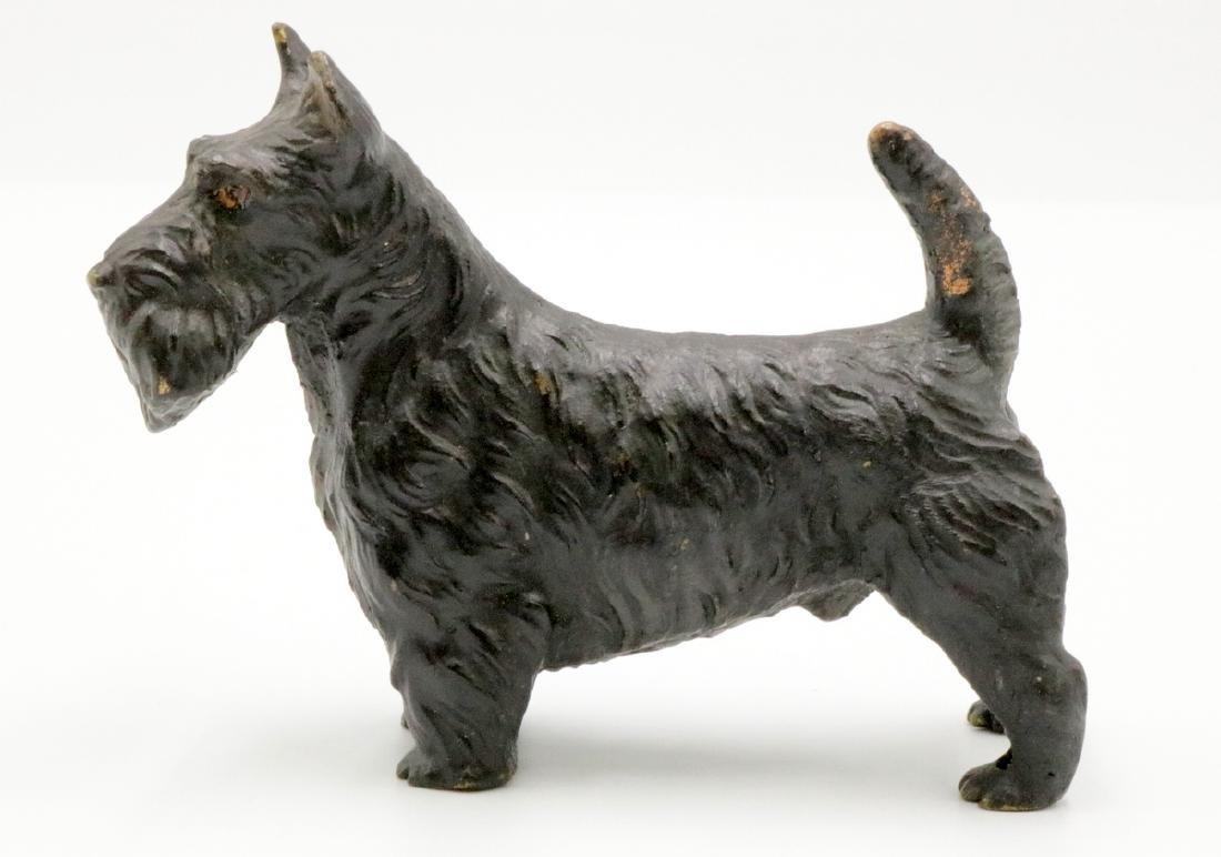 Vienna Austria Cold Painted Bronze Dog